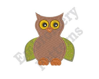 Fall Owl - Machine Embroidery Design