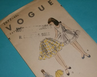 Vogue Slip and Petticoat Pattern Size 8 / 1953