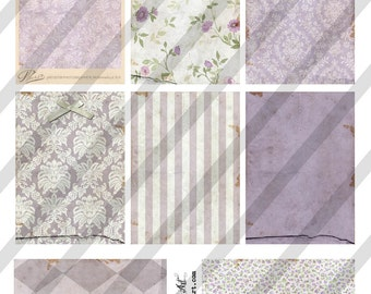 Digital Collage Sheet Victorian Violet Background Images (Sheet no. O221) Instant Download