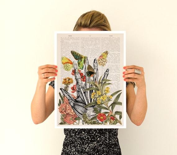 Take my hand Poster, anatomical art, Human anatomy art, Wall decor art, Giclee poster, Wild  wall art, SKA063PA3