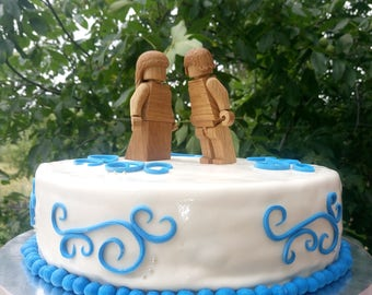 Wedding gift husband wife fiance Bride Groom Cake Topper Personalized Christmas gift Wooden anniversary Weddinge Couple engagement proposal