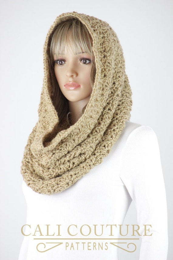 Crochet Snood Scarf Pattern - Vienna Infinity Scarf Hood Pattern #36 ...