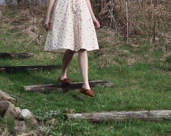 Robe, robe vintage crème, robe longue, manches courtes, robes d'été pour femme, robe des années 1950, la robe rétro, années 1990, les fleurs, Ivoire robe rose