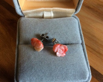 Tiny Pink Earrings