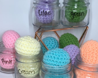 Colorful Sorting Ball Crochet Toys