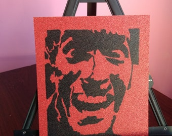 Evil Dead/Army of Darkness Ash red glitter card stock portrait