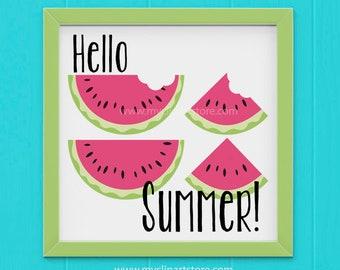 Clipart Single - Juicy Watermelon Slices / Fruit Clipart, watermelon clipart, watermelon slice, sliced watermelon, cute watermelon