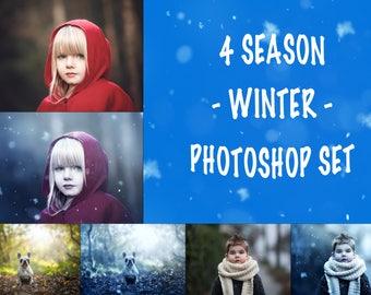 Photoshop Set - Winter_ 4 Seasons