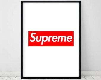 Supreme poster • Supremet print Supreme art Fashion print Supreme Supreme poster art Supreme Box logo Vogue poster Red art Supreme wall art