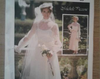 Simplicity Pattern 7218 Size 18 FF Uncut Vintage 80s Wedding/ Bridesmaid Gown