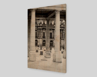 Palais-Royal Paris Wood Print,1:50 Limited Edition / home decor / decoration / photo / photography / black and white /. palace .. art .