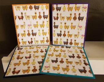 Llama Note Card Set