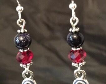 Patriotic ribbon earrings