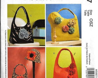 McCall's M5867 Laura Ashley Hat And Purse Handbag Tote Bag Summer Flowers Sewing Pattern 5867 UNCUT
