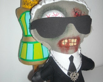 Karl Lagerfeld Zombie doll  13 inches 33 cm