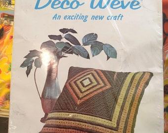 1960s *SEALED* // Spinnerin Deco Weve Diamond Pillow