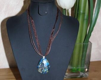 Necklace in blue jasper - semi precious