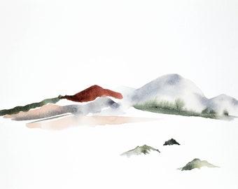 new mexico no. 1 . original abstract watercolor painting