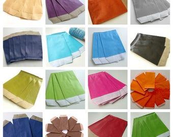 10 pockets 7 cm * 12 cm Kraft gift bags