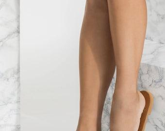 Open Toe Leather Slides, Slip On Sandals, Iole design NEW