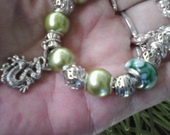 Grass Dragon, Euro style bracelet