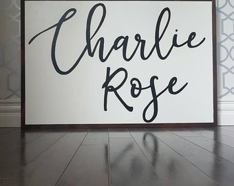 Custom name sign 24x36""