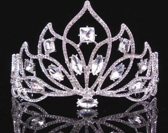 LATISHA - Silver Bridal Wedding Tiara Crown