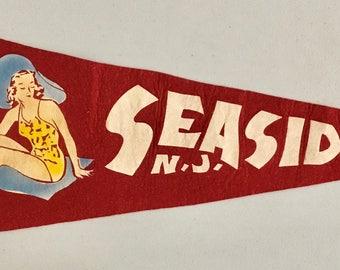 Vintage 'Seaside HTS. N.J.' Ocean County, New Jersey USA Pennant
