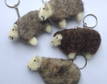 Cute Keyring - Sheep Keychain - Needle Felt Keyring - Animal Bag Charm - Cute Bag Accessories - Sheep Gift - Animal Gift - Gifts For Her