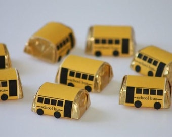 25ct  SCHOOL BUS Driver Teacher Appreciation Favor  Hersheys  Chocolate Nuggets