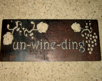 Un-wine-ding/  Metal art-home decor-wine art-wine humor