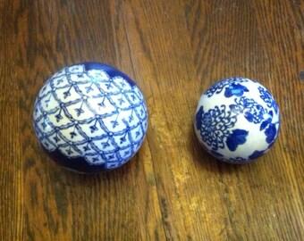 Pair of Porcelian Orbs