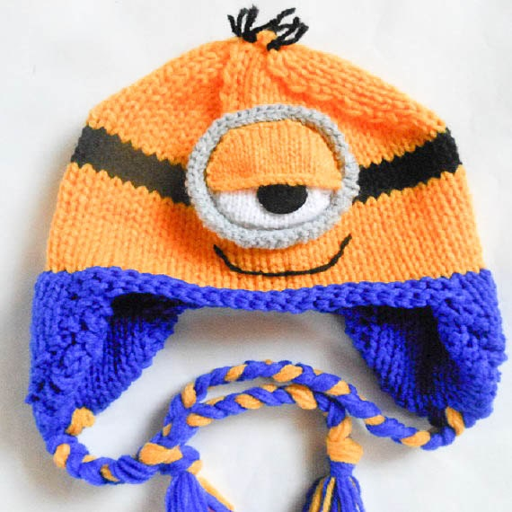 KNITTING PATTERN Minion hat pattern minion hat animal hat
