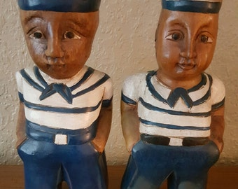 American 4th of July sailors wood figures