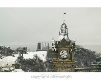 The Balmoral Hotel & Calton Hill, Edinburgh