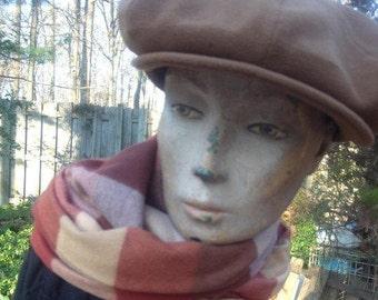 Écharpe et bonnet de laine ensemble hiver Cachemire 2 morceaux
