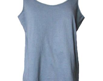 Tank Top Grey Cotton Jersey Knit Size