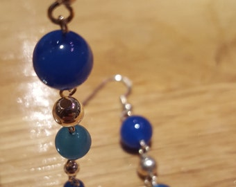 Blue Onyx and Sterling Silver - Ascot