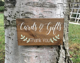 Wedding Decor,Wedding Sign,Cards and Gifts,Thank you,Cards and Gifts Sign for Wedding,Rustic Wedding Decor,Farmhouse Wedding Decor,Wood Sign