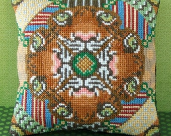 Eye of the Tiger Mini Cushion Cross Stitch PDF Chart Pack