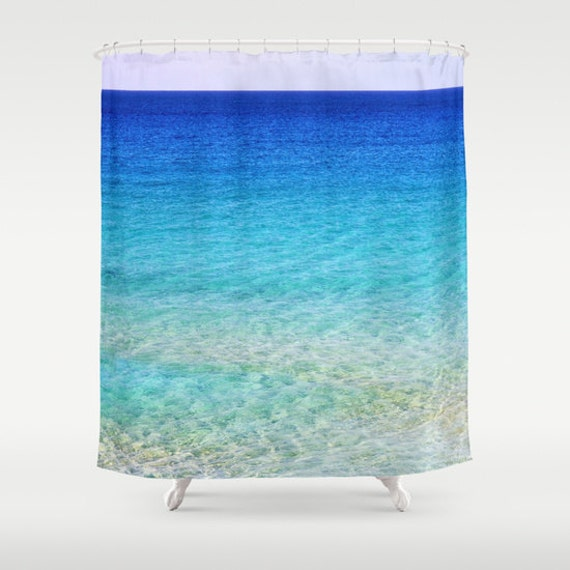 Calm Waters Shower Curtain, Beach Shower Curtain, Bathroom, Aqua Blue Home Decor, Nautical Shower Curtain, Nature Shower Curtain, Surf,Happy
