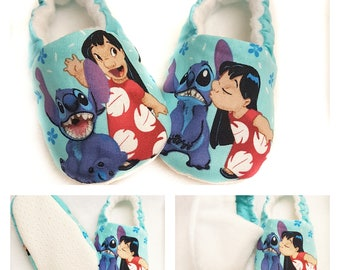 Lilo and Stitch baby slippers, lilo and stitch booties, Soft Sole Baby Shoes,Disney Baby Booties, Baby Gift, Stitch and LiloToddler slippers
