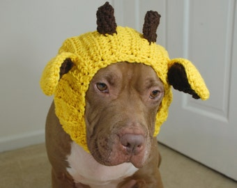 Giraffe Dog Snood Crochet Made to Order