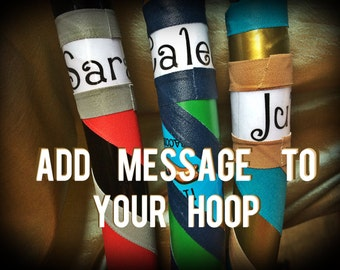 ADD NAME & Phone Number to your DanceHoops Hula Hoop - Name, Contact Information, Motivational Quotes, Greeting