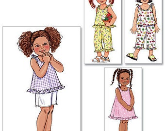 Butterick B4173 Size 4-5-6 - Toddlers' Top, Dress, Shorts and Pants Sewing Pattern / Uncut/FF