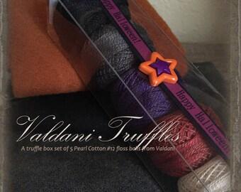"""Valdani Thread: Gift Set/5 Perle Cotton Embroidery Thread Balls - """"Halloween Treats"""" Collection"""