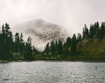 Lake Photography - Mountain Lake Print - Mountains Print - Landscape Photo - Lake Digital Photo - Digital Download - Instant Download