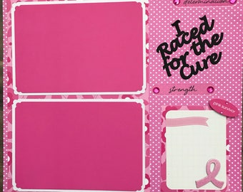"Race for the Cure 12x12"" Scrapbook Layout"