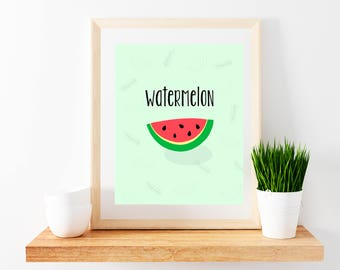 Watermelon Printable Poster