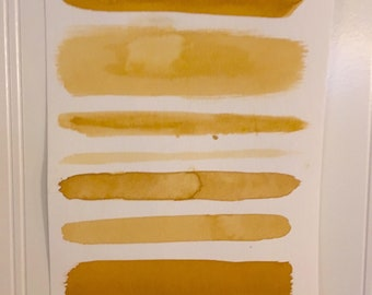 9 X 6, Yellow Ochre Minimalist Decor